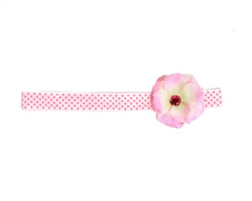 Pale Pink Candy Pink Dot Flowerette with Candy Pink Mini Rose