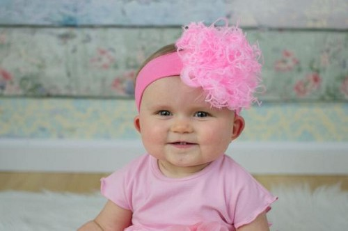 Candy Pink Soft Headband with Candy Pink Small Curly Marabou