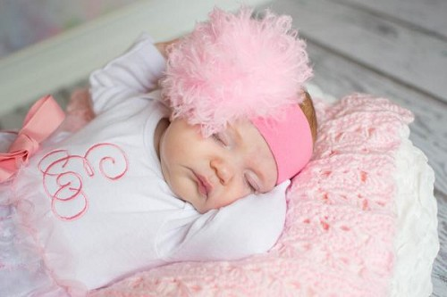 Candy Pink Soft Headband with Pale Pink Small Curly Marabou