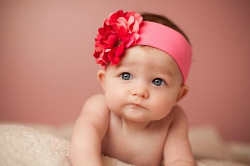 Candy Pink Soft Headband with Pink Raspberry Small Geraniums
