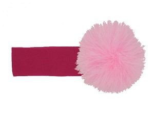Raspberry Soft Headband with Candy Pink Small Regular Marabou