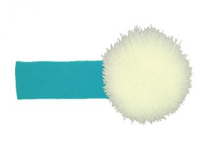 Teal Soft Headband with Cream Small Regular Marabou