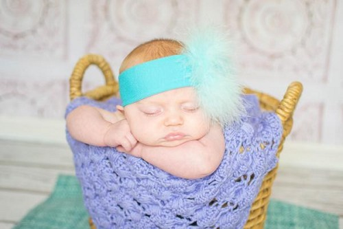 Teal Soft Headband with Teal Small Regular Marabou