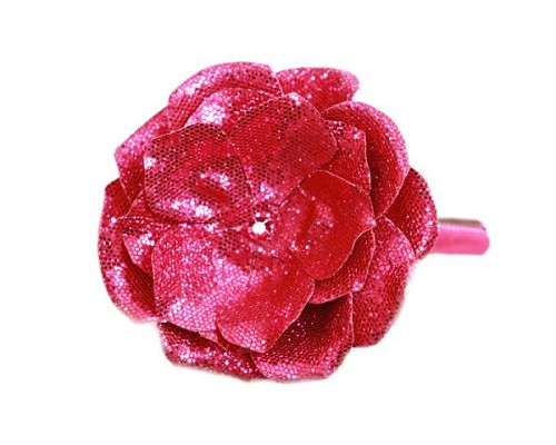 Raspberry Hard Headband with Sequins Raspberry Rose