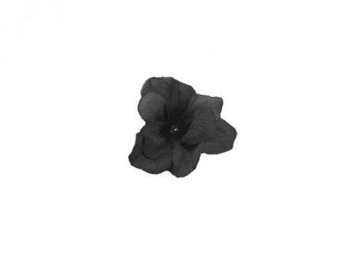 Black Mini Clip with Black Mini Geraniums