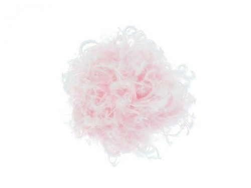 Pale Pink Plume with Pale Pink Small Curly Marabou