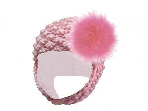 Pale Pink Pretty Pixie Hat with Candy Pink Large regular Marabou