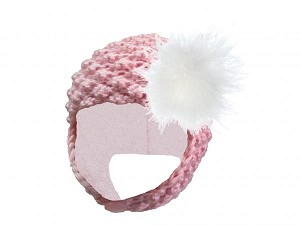 Pale Pink Pretty Pixie Hat with Cream Large regular Marabou