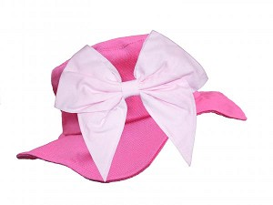 Raspberry Sun Hat with Pale Pink Bow-Rae-Mi