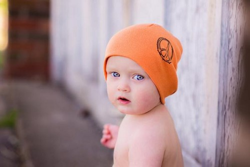 Orange Peace Screen Print Hat
