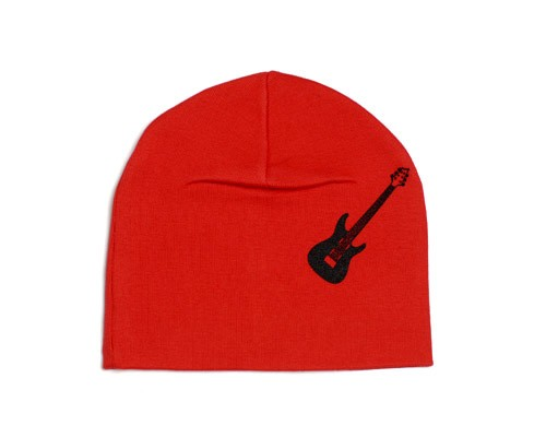Red Guitar Screen Print Hat