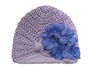 Lavender Tiny Turban with Lavender Small Geraniums