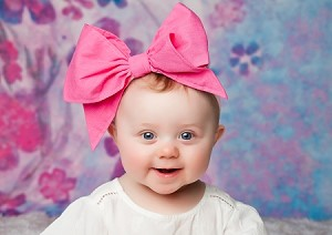 Candy Pink Soft Headband w Candy Pink Bow-Rae-Mi