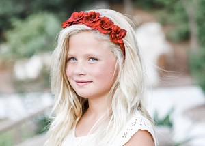 Red Mini Rose Flower Crown