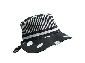 Black and White Dot Sun Hat